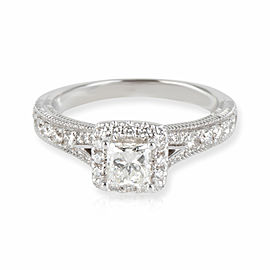 Vera Wang Love Collection Diamond Engagement Ring in 14K White Gold 0.85 CTW