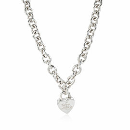Tiffany & Co. Heart Locket Necklace in Sterling Silver