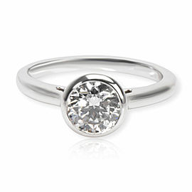 Blue Nile Diamond Engagement Ring in Platinum GIA Certified E VVS2 1.09 CTW