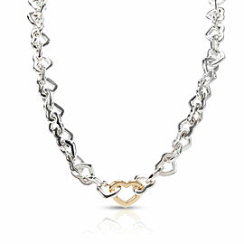 Tiffany & Co. Heart Link Necklace in 18K Yellow Gold/Sterling Silver