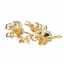 Tiffany & Co. Vintage Floral Brooch in 14K Yellow Gold
