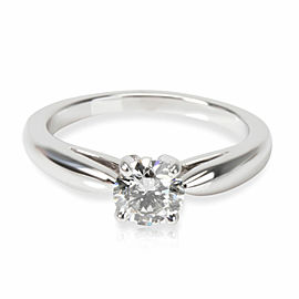 Van Cleef & Arpels Bonheur Diamond Engagement Ring in Platinum E VVS2 0.5 CTW