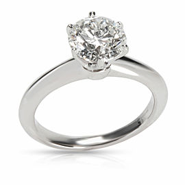Tiffany & Co. Solitaire Diamond Engagement Ring in Platinum G VS2 1.5 CTW