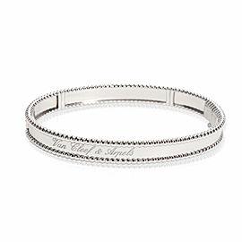 Cleef & Arpels Perlée Signature Bracelet Large Model in 18K White Gold