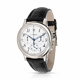 L.Leroy Osmior Men's Watch in 18kt White Gold