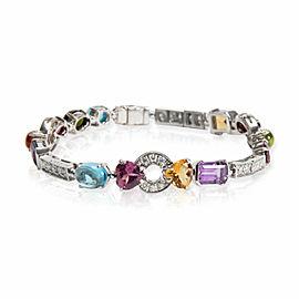 Bulgari Allegra Multi Colored Sapphire & Diamond Bracelet in 18KT Gold 1.11 CTW