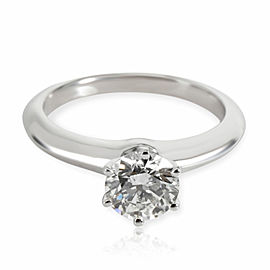 Tiffany & Co. Solitaire Diamond Engagement Ring in Platinum G VVS1 0.97 CTW