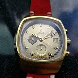Men's Omega Gold-Capped Seamaster ref.176.005 Chronograph, c.1972 Vintage LA2RED