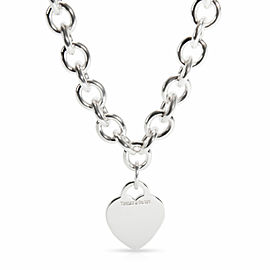 Tiffany & Co. Heart Tag Necklace in Sterling Silver
