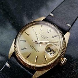 Men's Rolex 14k Gold Oyster Date ref.1503 Automatic, c.1970s Vintage LV802BLK