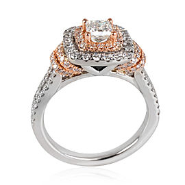 Vera Wang Love Collection Halo Diamond Engagement Ring in 14K 2 Tone Gold 1.20ct