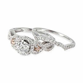 LeVian Diamond Wedding Set in 14K White Gold 1.16 CTW