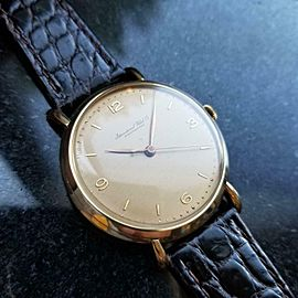 IWC Men's 18K Solid Gold cal.89 Manual Hand-Wind Dress Watch c.1950s Swiss LV539