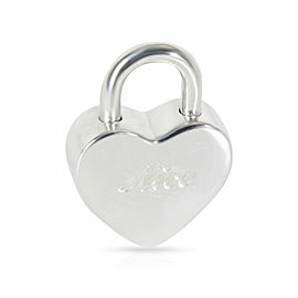 Tiffany & Co. Naughty and Nice Heart Padlock Charm in Sterling Silver
