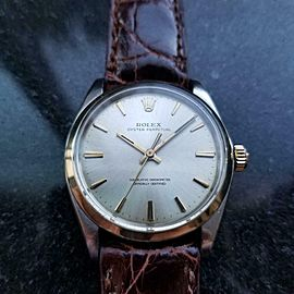 Men's Rolex Oyster perpetual ref.1002 Automatic 14K & SS c.1966 Vintage LV919BRN