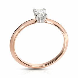 James Allen Diamond Engagement Ring in 14K Rose Gold GIA Certified E VS1 0.30 CT