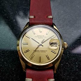 Men's Rolex Oyster Date ref.1550 34mm Automatic Gold-Capped, c.1970s LV905RED