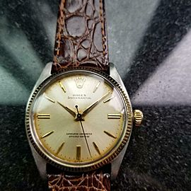 Men's Rolex Oyster ref.6567 34mm 14k Gold & ss Automatic, c.1950s LV907BRN