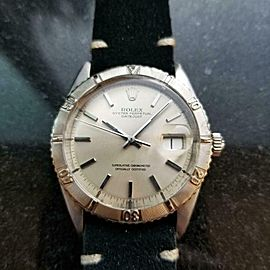 Men's Rolex 18k White Gold & ss Datejust Ref.1625 36mm Automatic 1960s LV887BLK