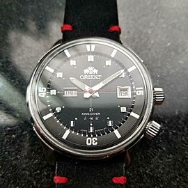 Men's Orient King Diver 42mm Day Date Automatic, c.1960s Stainless Japan Y2