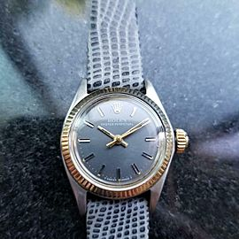 Ladies Rolex Oyster Perpetual Ref.6619 25mm Automatic 18k & ss, c.1970s LV707GRY