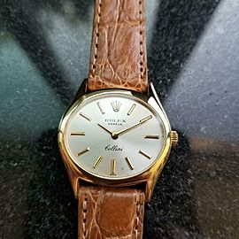Ladies Rolex Cellini Geneve Ref.3802 27mm 18k Gold Manual-Wind, c.1970s LV873