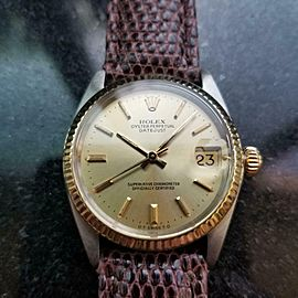 Unisex Rolex Oyster Datejust Ref.6827 31mm 18k Gold & SS Automatic, 1970s LV912