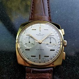 Men's Breitling Top Time Chronograph 37mm Gold-Plated Manual, c.1970s LV857BRN