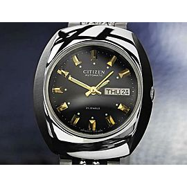 Vintage Citizen Men's Day Date Automatic Stainless Steel 1970s 34mm Watch DN119