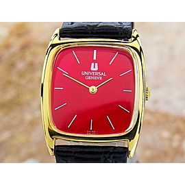 Universal Geneve Swiss Made Unisex Gold Plated 28mm Dress Watch Manual 1960s J82