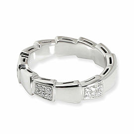 Bulgari Viper Diamond Ring in 18K White Gold 0.43 CTW