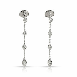 Tiffany & Co. Diamond by the Yard Diamond Earrings in Platinum 0.75 CTW