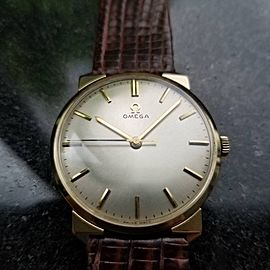 OMEGA Men's 14K Solid Gold Manual Wind 33mm cal.600 1960s Dress Watch LV317