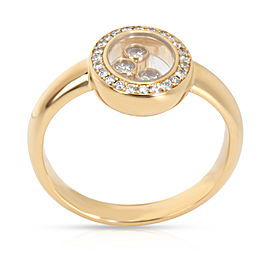 Chopard Happy Oval Diamond Ring in 18K Yellow Gold 0.23 CTW