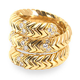 Bulgari Spiga Diamond Ring in 18K Yellow Gold 0.30 CTW