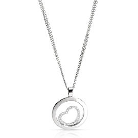 Chopard Happy Spirit Diamond Heart Necklace in 18K White Gold 0.33 CTW