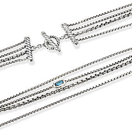 David Yurman Confetti London Blue Topaz Necklace in Sterling Silver