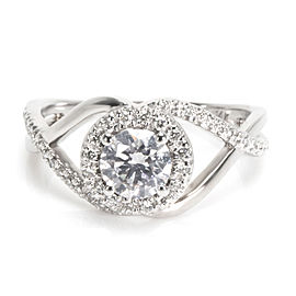 GIA Certified James Allen Diamond Engagement Ring in 14K Gold (0.75 ct H/IF)
