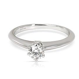 Tiffany & Co. Solitaire Diamond Engagement Ring in Platinum E VVS2 0.34 CTW