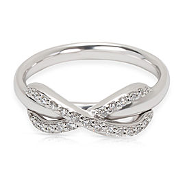 Tiffany & Co. Diamond Infinity Ring in 18K White Gold 0.13 CTW