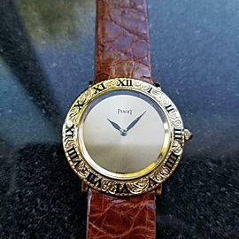 Unisex Piaget 18K Gold ref.9118 Manual Wind Dress Watch, c.1970s Swiss LV634BRN