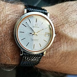 Omega Constellation 35m Quartz 1332 Sparkle Dial Original Mens 1980s Watch LV391