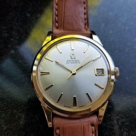 OMEGA 34mm Men's cal.560 Automatic w/Date c.1960s 10k gf Swiss Vintage LV400