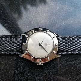 Juvenia Unisex 32mm 18K White Gold 1960s Manual Wind Diamond Dress Watch LV428