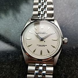 Rolex Mens Oyster Perpetual 1950s Automatic 6564 33mm Vintage Bubbleback LV480