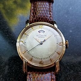 Le Coultre 1950s 33mm 10K Gold-Filled Mens Bumper Automatic cal.481 Swiss LV551