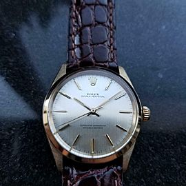 ROLEX Men's 34m 1960s Rolex Oyster perpetual 1002 9ct Gold Automatic Swiss LV807