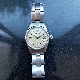 Rolex 1950s Ladies 25mm Oyster Perpetual Ladydate 6516 Automatic Stainless LV611
