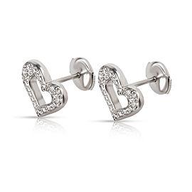 Piaget Diamond Heart Stud Earrings in 18K White Gold (0.22 CTW)
