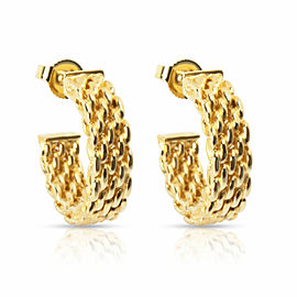 Tiffany & Co. Somerset Hoop Earrings in 18K Yellow Gold